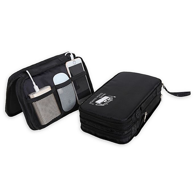 Alternate image 1 for Travel Fusion™ Electronics Travel Organizer in Black/Grey