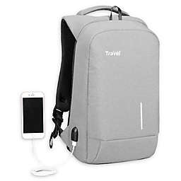 Travel Fusion® Tamperproof Backpack in Light Grey