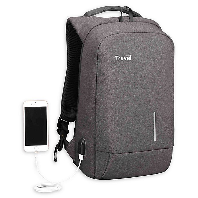 Alternate image 1 for Travel Fusion® Tamperproof Backpack