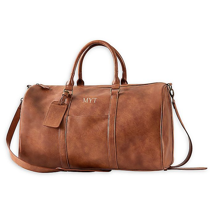 Alternate image 1 for Cathy's Concepts Vegan Leather Duffle Bag in Brown