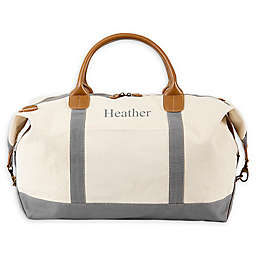 Cathy's Concepts Canvas Oversized Weekender Tote in White