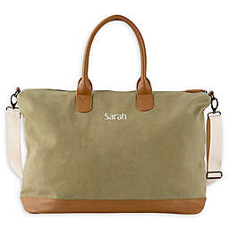 Cathy's Concepts Washed Canvas Weekender Tote in Green