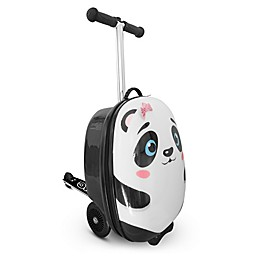 Zincflyte Polly the Panda 19-Inch Rolling Luggage Scooter in White