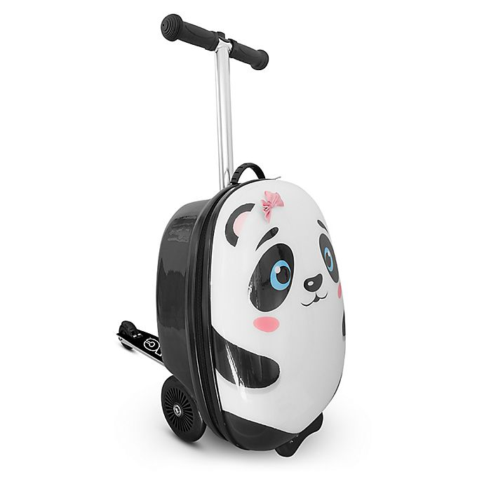 Alternate image 1 for Zincflyte Polly the Panda 19-Inch Rolling Luggage Scooter in White