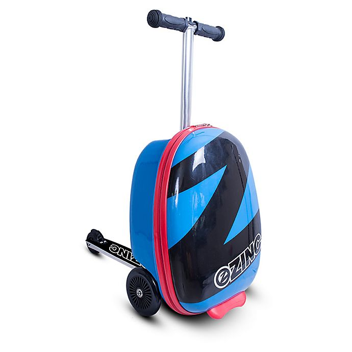 Alternate image 1 for Zincflyte ZF 19-Inch Rolling Luggage Scooter in Pacific Blue