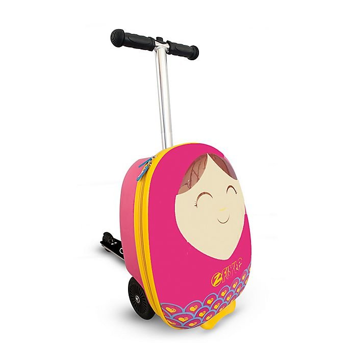 Alternate image 1 for Zincflyte Betty Rolling Luggage Scooter in Pink