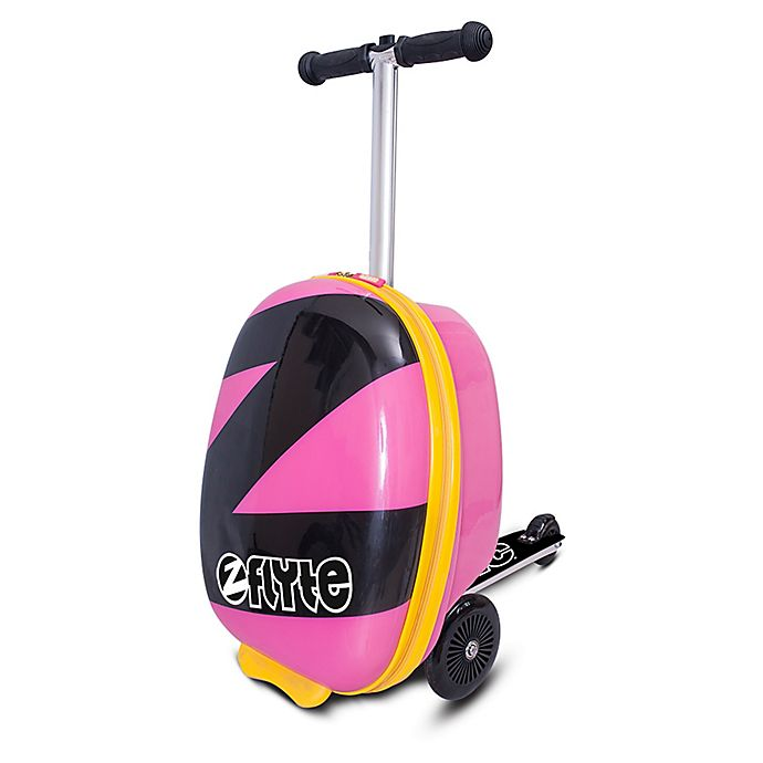 Alternate image 1 for Zincflyte Power Pink Rolling Luggage Scooter in Pink