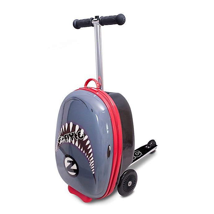 Alternate image 1 for Zincflyte Snapper the Shark Rolling Luggage Scooter in Grey