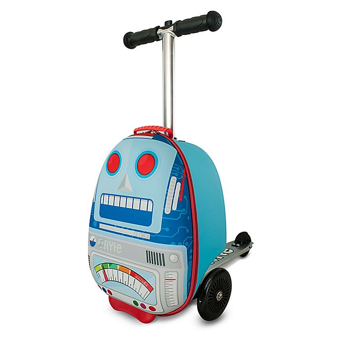 Alternate image 1 for Zincflyte Sparky the Robot Rolling Luggage Scooter in Blue