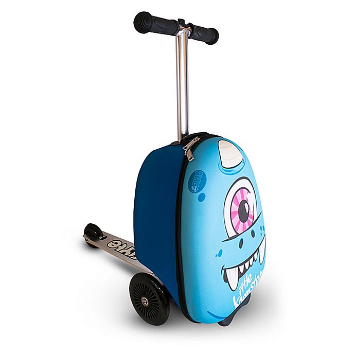Alternate image 1 for Zincflyte Sid the Cyclops Rolling Luggage Scooter in Blue