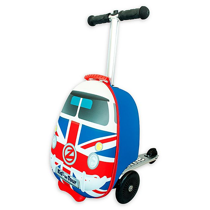 Alternate image 1 for Zincflyte Union Jack Rolling Luggage Scooter in Red
