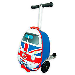 Zincflyte Union Jack Rolling Luggage Scooter in Red