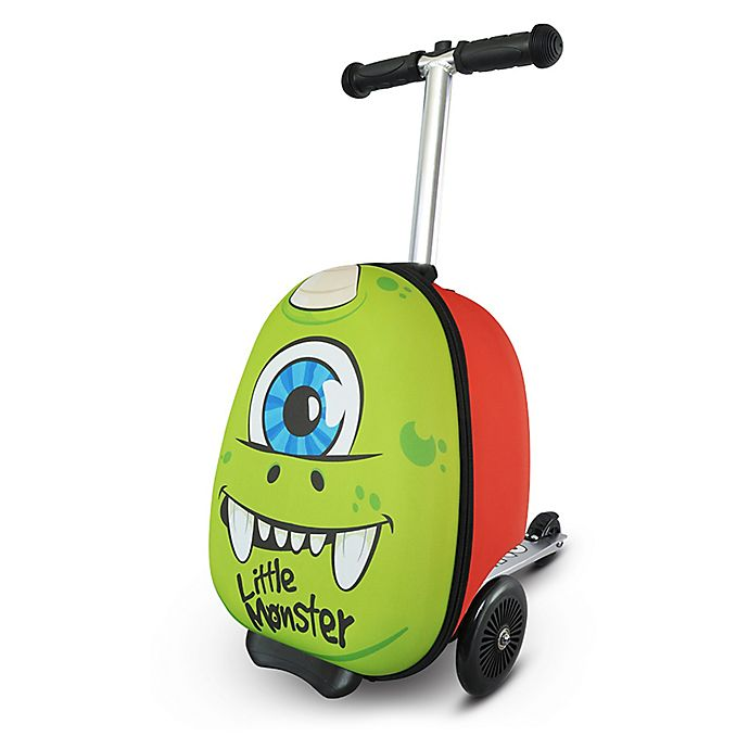 Alternate image 1 for Zincflyte Sid the Cyclops Rolling Luggage Scooter in Green