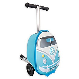 Zincflyte Mini Bus Rolling Luggage Scooter in Blue