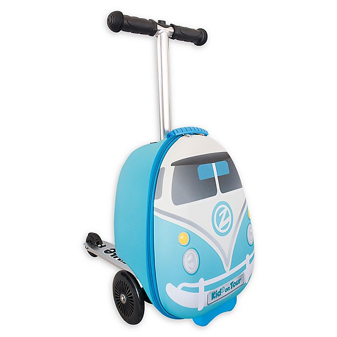 Alternate image 1 for Zincflyte Mini Bus Rolling Luggage Scooter in Blue