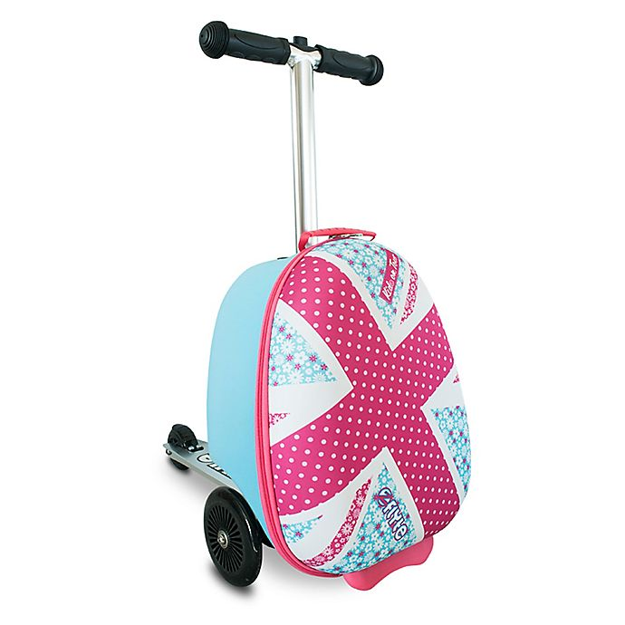 Alternate image 1 for Zincflyte Mini Daisy Rolling Luggage Scooter