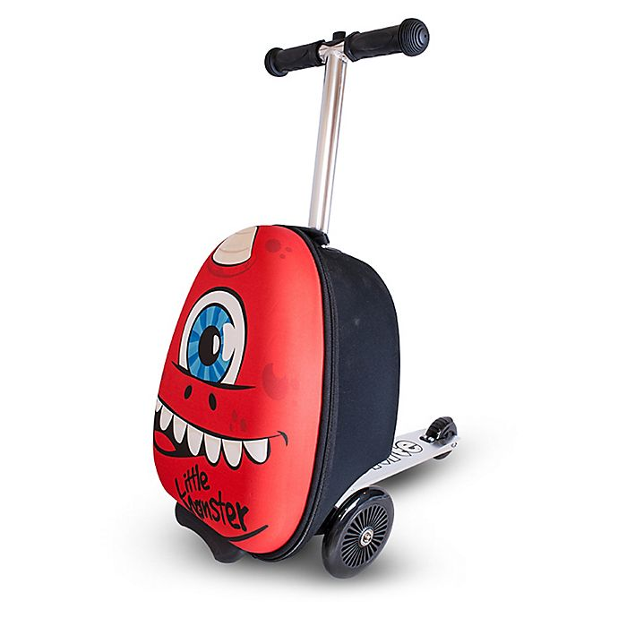 Alternate image 1 for Zincflyte Sid the Cyclops Rolling Luggage Scooter in Red