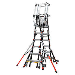 Little Giant® Compact Safety Cage 9-Step Ladder