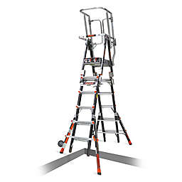 Little Giant® Compact Safety Cage 9-Step Ladder in Black