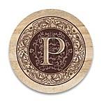 Monogram Letter  P  Coasters (Set of 4)