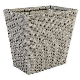 .ORG™ Poly-Rattan Waste Basket in Grey/Light Grey