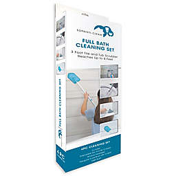 4-Piece Bathroom Cleaning Kit in Teal/Grey