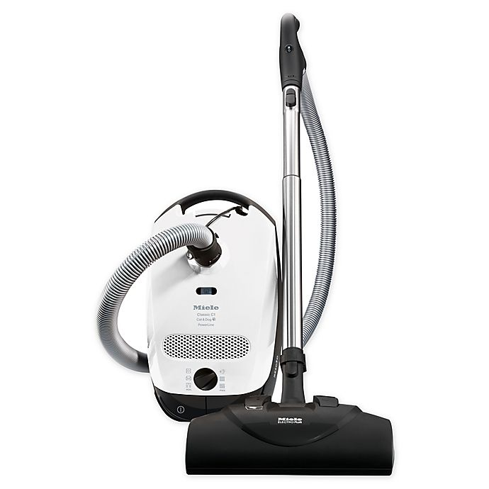 Alternate image 1 for Miele® Classic C1 41BBNO31USA Cat & Dog Canister Vacuum in White