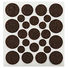 100-Piece Assorted Self-Stick Felt Pads in Brown