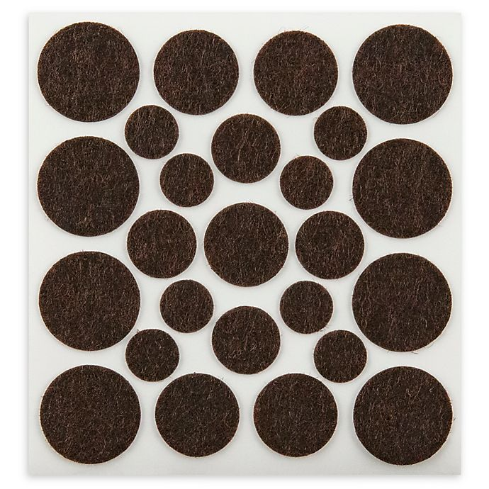Alternate image 1 for 100-Piece Assorted Self-Stick Felt Pads in Brown