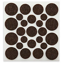 100-Piece Assorted Self-Stick Felt Pads in Brown