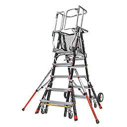 Little Giant® Adjustable Safety Cage Ladder