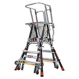 Little Giant® Adjustable Safety Cage Ladder in Black
