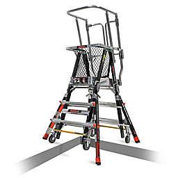Little Giant® Adjustable Safety Cage™ Ladder in Black