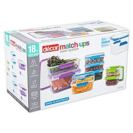 décor 18-Piece MATCH-UPS Food Storage Container Set