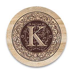 "Monogram Letter ""K"" Coasters (Set of 4)"