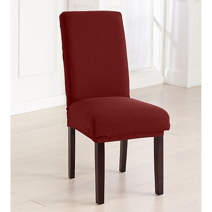Great Bay Home Jersey Dining Chair Slipcovers Set Of 4 Bed Bath Beyond