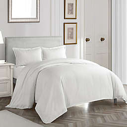Nanshing Somerset Queen Duvet Cover Set in White