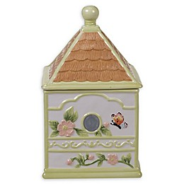 Certified International Spring Meadows Birdhouse Cookie Jar