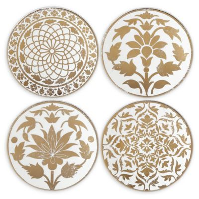 Lenox® Global Tapestry Gold™ Tidbit Plates (Set Of 4) by Bed Bath And Beyond