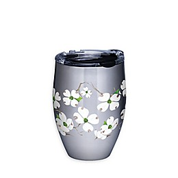 Tervis® Dogwood Flower 12 oz. Stainless Steel Stemless Wine Glass with Lid