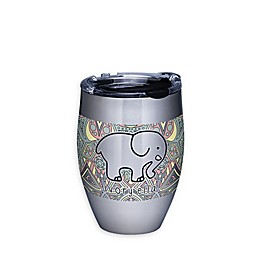 Tervis® Ivory Ella Mosaic 12 oz. Stemless Wine Glass with Lid