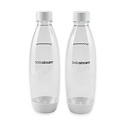SodaStream® 1-Liter Carbonating Bottle in White (Set of 2)