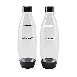SodaStream® Slim1-Liter Carbonating Water Bottle in Black (Set of 2)