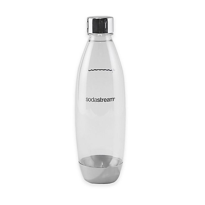 Alternate image 1 for SodaStream® 1-Liter Slim Carbonating Water Bottle with Metal Accent
