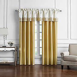 Marquis® by Waterford Russell Square Window Valance in Cream