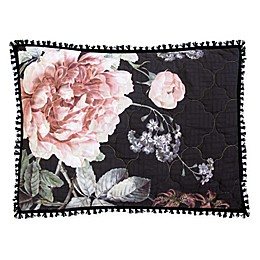 New York Botanical Garden® Rosalie Standard Pillow Sham in Black