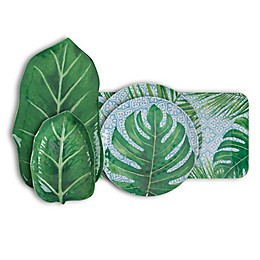 Arcadia Tropical Leaf Melamine Dinnerware Collection