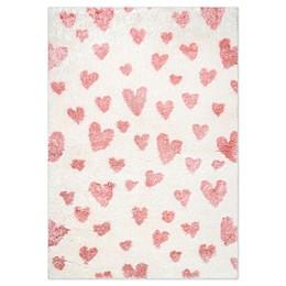 nuLOOM Alison Heart Area Rug in Pink
