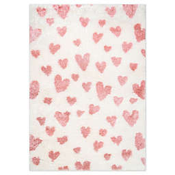 nuLOOM Alison Heart Area Rug in Pink