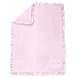 Wendy Bellissimo ™ Plush Ruffled Blanket in Pink